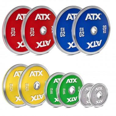ATX® 150 kg Steel Powerlifting Plate Set