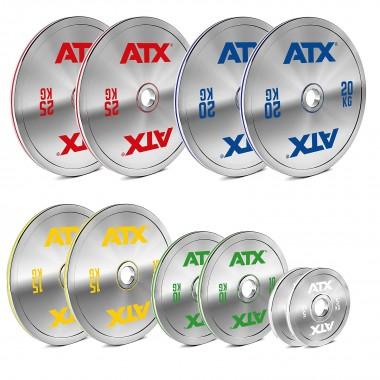 ATX® 150 kg Chrome Powerlifting Plate Set