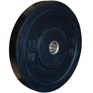 15kg Black Bumper Plate