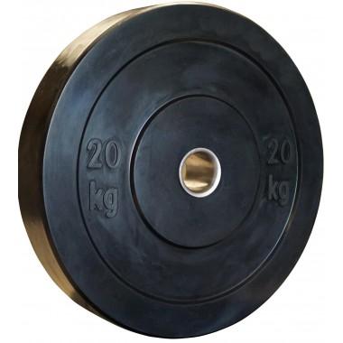 20kg Black Bumper Plate