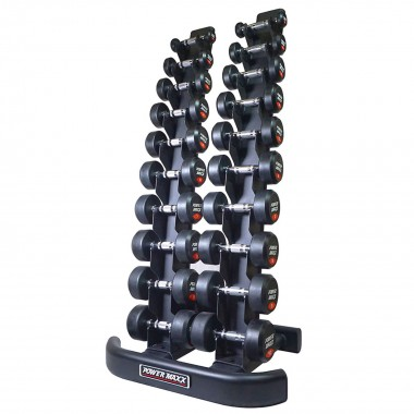 1kg to 10kg Round Rubber Dumbbell Set