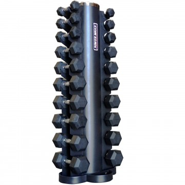 Rubber Hex Dumbbell Set