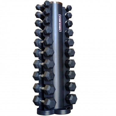 1kg to 10kg Rubber Hex Dumbbell Set