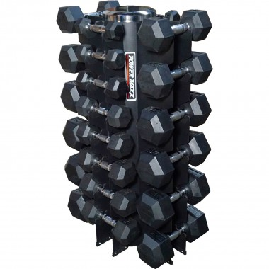 1kg to 20kg Rubber Hex Dumbbells