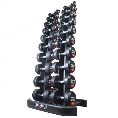 2kg to 20kg Round Rubber Dumbbell Set