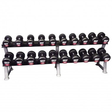 2.5kg to 25kg Round Rubber Dumbbell Set