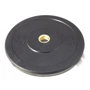 10kg Black Bumper Plate