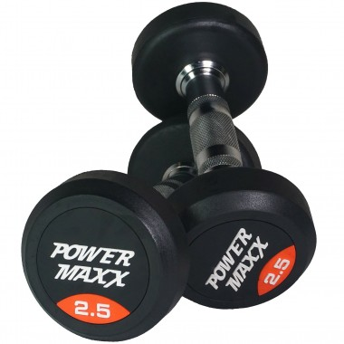 2.5kg Round Rubber Dumbbell Pair