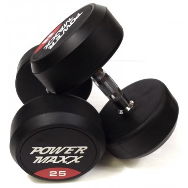25kg Round Rubber Dumbbell Pair