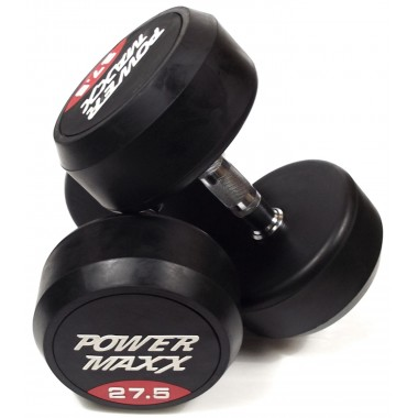 27.5kg Round Rubber Dumbbell Pair