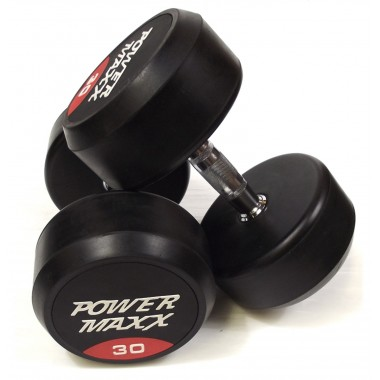 30kg Round Rubber Dumbbell Pair