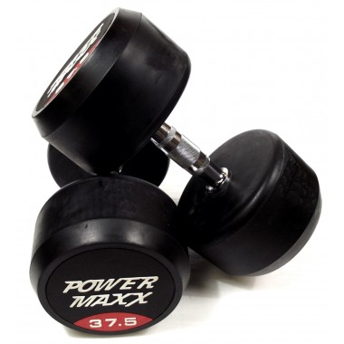 37.5kg Round Rubber Dumbbell Pair