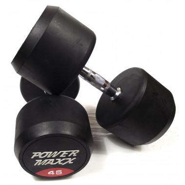 45kg Round Rubber Dumbbell Pair