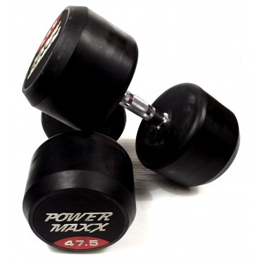 47.5kg Round Rubber Dumbbell Pair