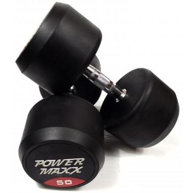 50kg Round Rubber Dumbbell Pair