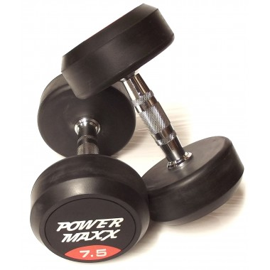 7.5kg Round Rubber Dumbbell Pair