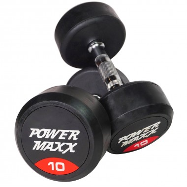 10kg Round Rubber Dumbbell Pair