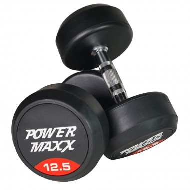 12.5kg Round Rubber Dumbbell Pair