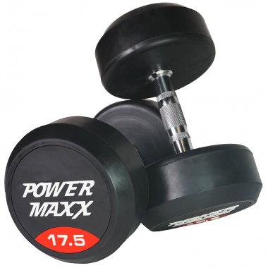 17.5kg Round Rubber Dumbbell Pair
