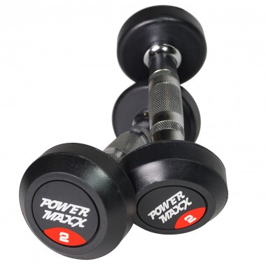 2kg Round Rubber Dumbbell Pair