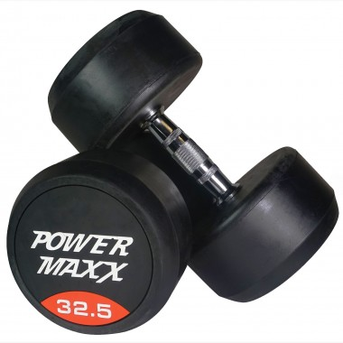 32.5kg Round Rubber Dumbbell Pair
