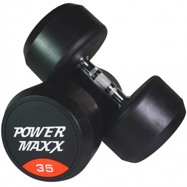 35kg Round Rubber Dumbbell Pair