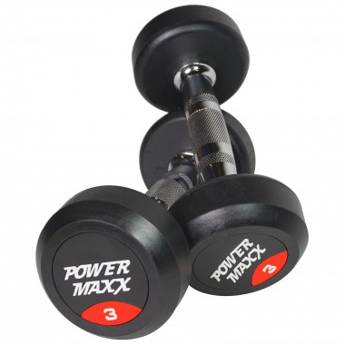 3kg Round Rubber Dumbbell Pair