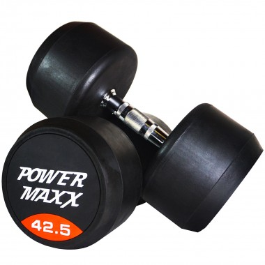 42.5kg Round Rubber Dumbbell Pair