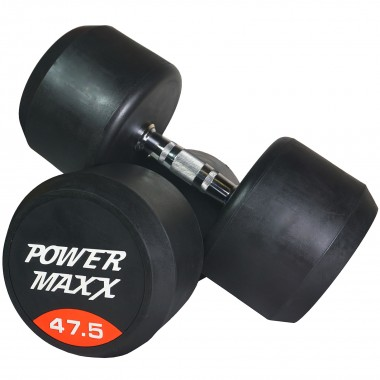 47.5kg Round Rubber Dumbbell Pair