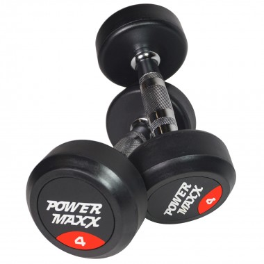 4kg Round Rubber Dumbbell Pair