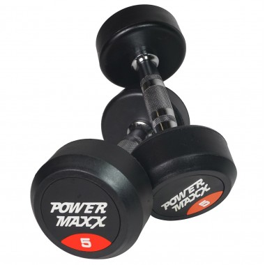 5kg Round Rubber Dumbbell Pair