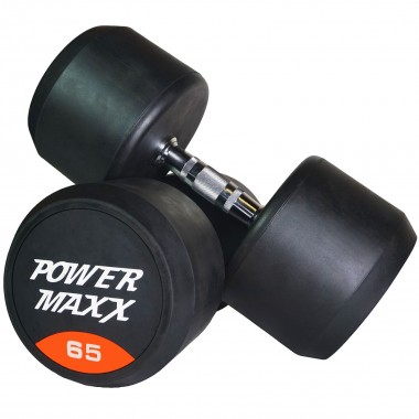 65kg Round Rubber Dumbbell Pair