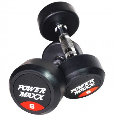 6kg Round Rubber Dumbbell Pair