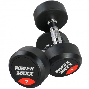 7kg Round Rubber Dumbbell Pair