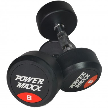 8kg Round Rubber Dumbbell Pair
