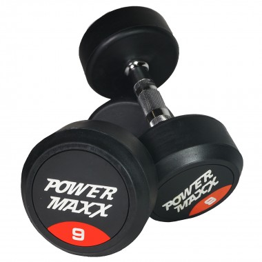 9kg Round Rubber Dumbbell Pair