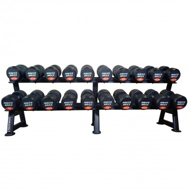 27.5kg to 50kg Round Rubber Dumbbell Set