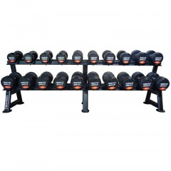 10kg to 40kg Round Rubber Dumbbell Set