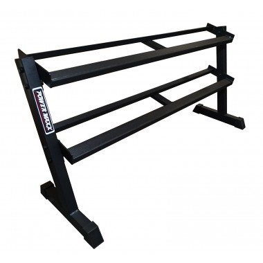 2 Tier Rubber Hex Dumbbell Rack