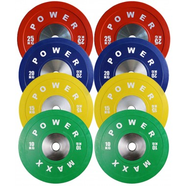 140kg Premium Olympic Bumper Weight Plate Package