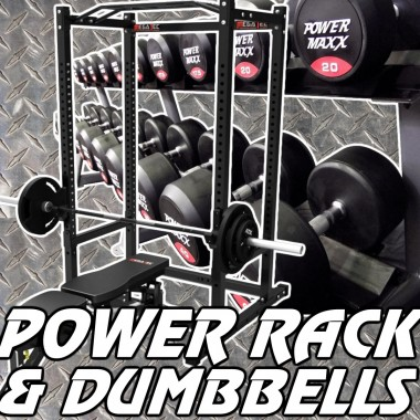 Megatec Power Rack & Dumbbell Gym