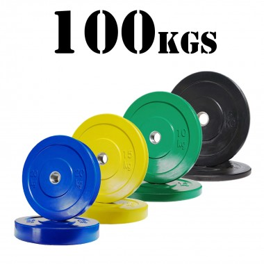 100kg Olympic Bumper Plate Package