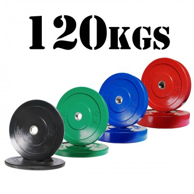 120kg Olympic Bumper Plate Package