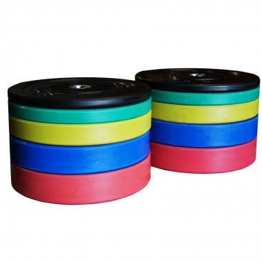 150kg Olympic Bumper Weight Plate Set