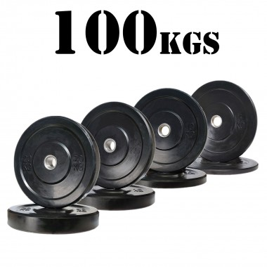 100kg Black Bumper Package
