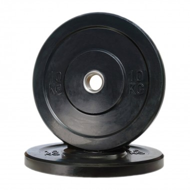 10kg Olympic Black Bumper Weight Plate