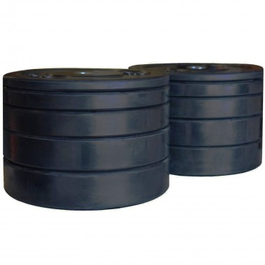 150kg Black Bumper Weight Plate Set
