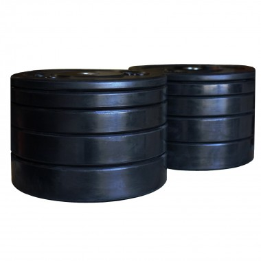 150kg Black Bumper Set