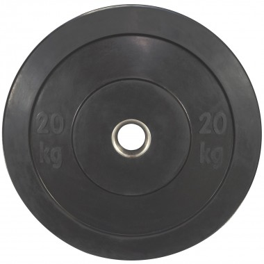 20kg Olympic Black Bumper Weight Plate