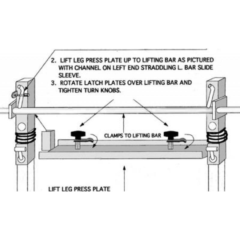 Im2000 Leg Press: Ironmaster Leg Press Plate For IM2000